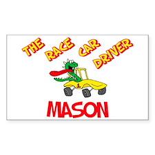 Mason Race Car Driver Rectangle Decal