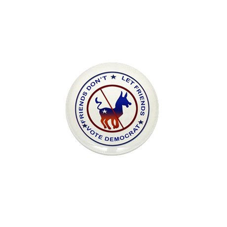 Anti Democrat Mini Button
