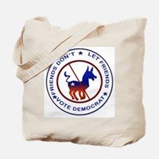 Anti Democrat Tote Bag