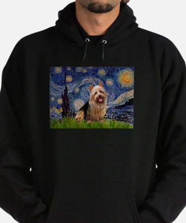 Starry Night Aussie Terrier Hoodie (dark)