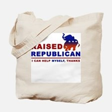 Raised Republican Tote Bag