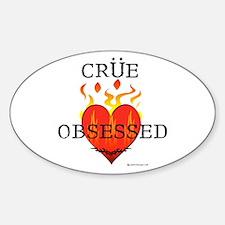 Crue Obsessed Oval Decal