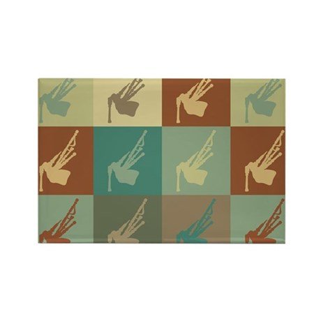 Bagpipes Pop Art Rectangle Magnet (10 pack)