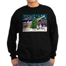 XmasMagic/2 Border Collies Sweatshirt