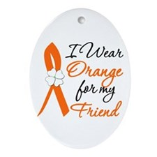 I Wear Orange For My Friend Oval Ornament