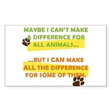Making a Difference Rectangle Decal