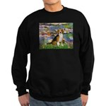 Lilies (#2) - Beagle #7 Sweatshirt (dark)