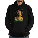 Fairies and Beagle Hoodie (dark)