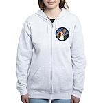 Starry Night Beagle #1 Women's Zip Hoodie
