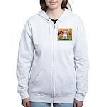 Cherubs / Bull Terrier Women's Zip Hoodie
