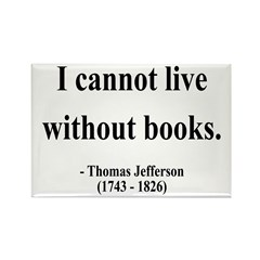 Thomas Jefferson 27 Rectangle Magnet (100 pack)