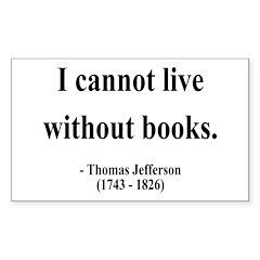 Thomas Jefferson 27 Rectangle Decal