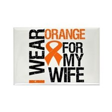 I Wear Orange For My Wife Rectangle Magnet