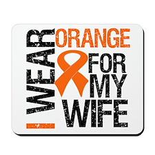 I Wear Orange For My Wife Mousepad