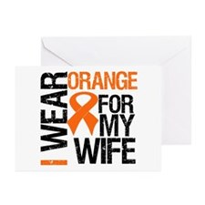 I Wear Orange For My Wife Greeting Cards (Pk of 10