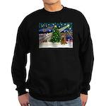 XmasMagic/Cocker (Brn) Sweatshirt (dark)