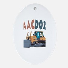 Isaacdozer the Bulldozer Oval Ornament