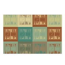 Backgammon Pop Art Postcards (Package of 8)