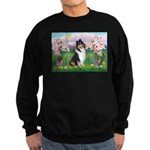 Blossoms / Collie (tri) Sweatshirt (dark)