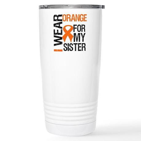 I Wear Orange For My Sister Stainless Steel Travel