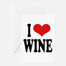I Love Wine Greeting Card