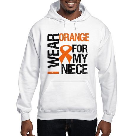 I Wear Orange Niece Hooded Sweatshirt