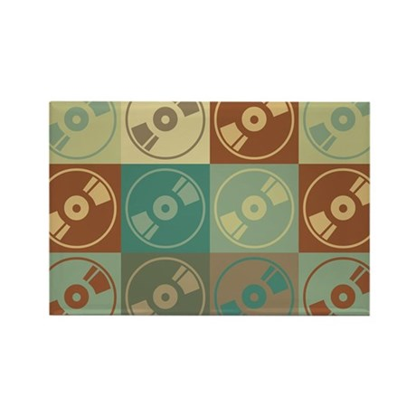 Audio and Video Pop Art Rectangle Magnet (10 pack)
