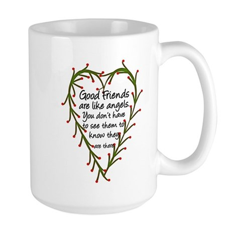 Friends Are Like Angels Large Mug