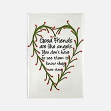 Friends Are Like Angels Rectangle Magnet (10 pack)