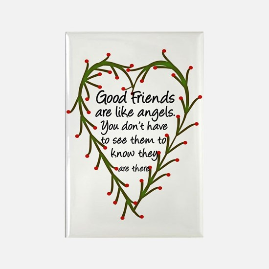 Friends Are Like Angels Rectangle Magnet