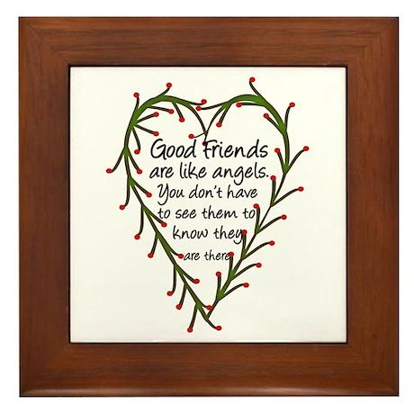 Friends Are Like Angels Framed Tile