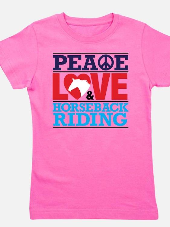 Peace Love and Horseback Riding T-Shirt
