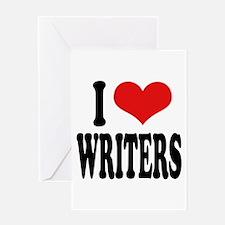 I Love Writers Greeting Card