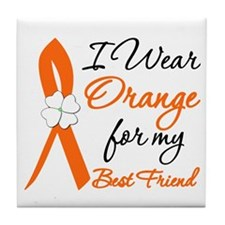 I Wear Orange For My Best Friend Tile Coaster