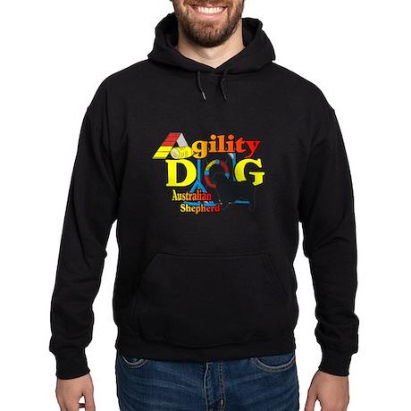 Australian Shepherd Agility Hoodie (dark)