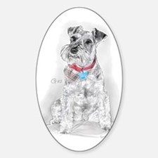 Schnauzer Gus Oval Decal