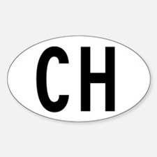 Ch Switzerland Euro Oval Decal
