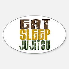 Eat Sleep Ju Jitsu Oval Decal