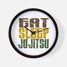 Eat Sleep Ju Jitsu Wall Clock