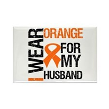 I Wear Orange For My Husband Rectangle Magnet