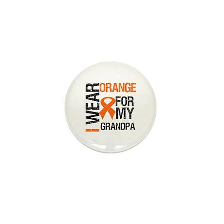 I Wear Orange For My Grandpa Mini Button