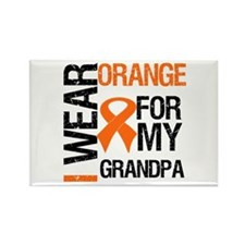 I Wear Orange For My Grandpa Rectangle Magnet