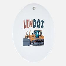 Jalendozer the Bulldozer Oval Ornament