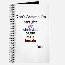 Don't Assume Journal