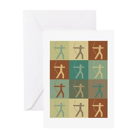 Archery Pop Art Greeting Card