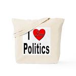 I Love Politics Tote Bag