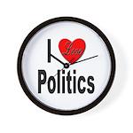 I Love Politics Wall Clock