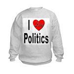 I Love Politics (Front) Kids Sweatshirt
