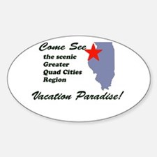 Come See The Quad Cities Oval Decal