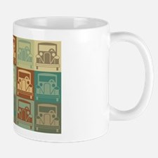 Antique Cars Pop Art Mug